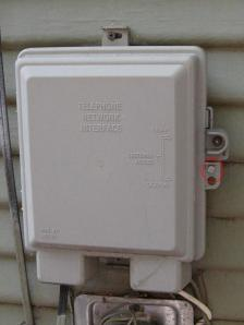 Telco box (NID) from the outside