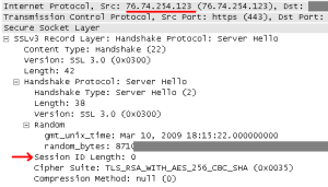 WP SSL Server Hello message