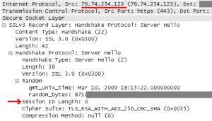 WP SSL Server Hello message